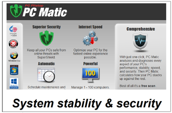 PC Matic - security and stability