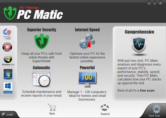 Pc matic home page picture