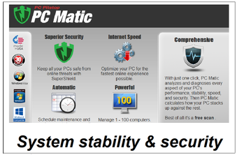 PC Matic - security and stablility