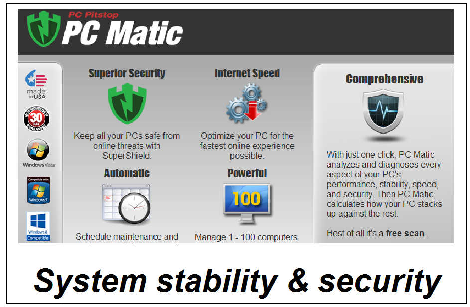 PC Matic - PC stability and security